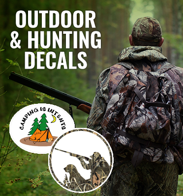 Outdoor and Hunting Stickers or Decals Car or Window Stickers