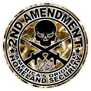 2nd Amendment Round Stickers Bullets