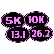 Marathon Stickers Pack: 5K 10K 13.1 26.2 Bumper Stickers