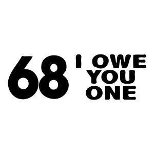 68 I Owe You One Funny Stickers