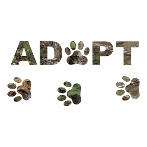 Adopt Camo Car Decal Rescue Animals