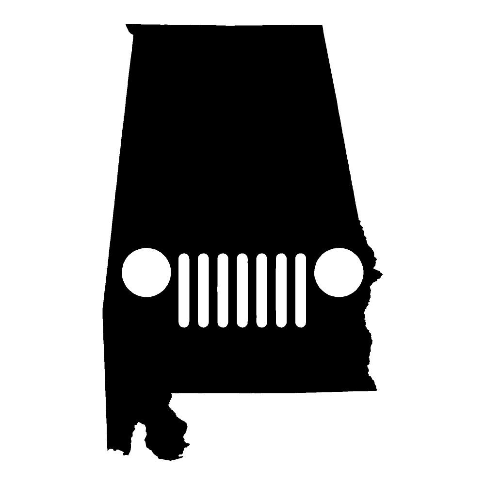 Alabama Jeep Stickers Car Decals Wall Decals