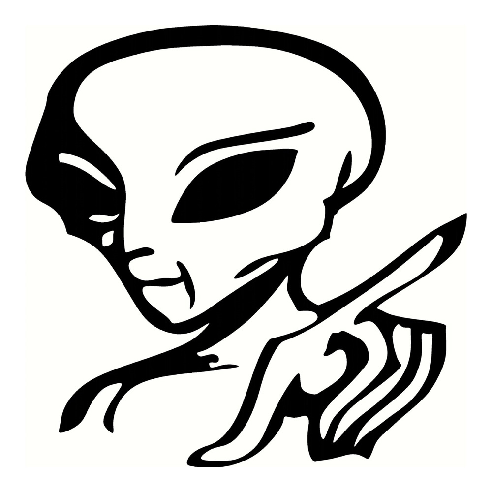 Alien Sticker Funny Stickers Cool Stickers Car Decal