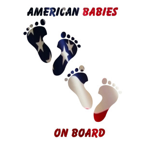 American Flag Babies on Board Stickers Car Decals
