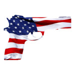American Flag Pistol Sticker
