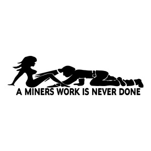 A Minors Work Funny Stickers