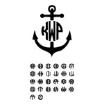 Monogrammed Anchor