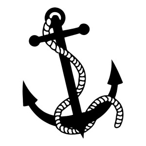 Anchor with a rope