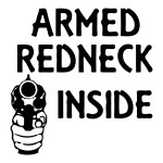 Armed Redneck Inside Funny Stickers