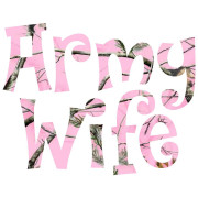 Army Wife in Pink Camo Patriotic Stickers