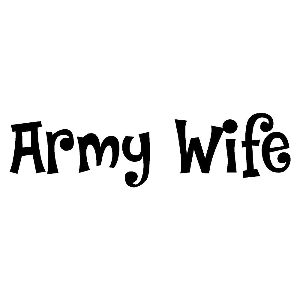 Army Wife Waterproof Stickers