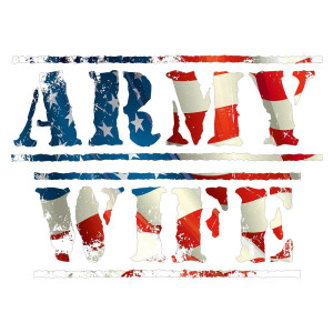 Army Wife Red White and Blue Die Cut Stickers
