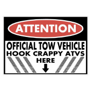 Attention Tow Vehicle Funny Stickers