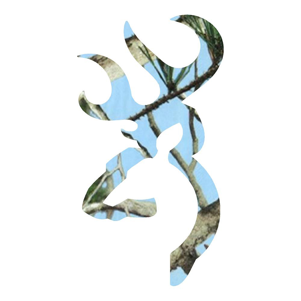 Baby Blue Buck Head Hunting Camouflage Truck Stickers