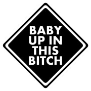 Baby Up In This Bitch Funny Stickers