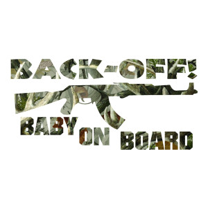 Legends Antler Camo Back Off Baby on Board Car Decals