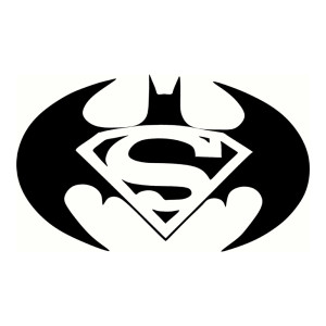 Batman Superman Waterproof Stickers