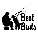 Best Buds Fishing Die Cut Stickers