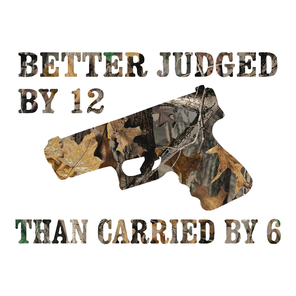 Better Judged By 12 Camo Stickers