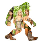 Big Foot and His Girls Funny Stickers Animal Decal