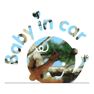 Blue Camo Baby in Car Car Decals Truck Stickers