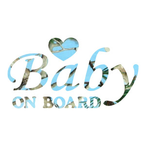 Blue Camo Baby on Board Truck Stickers