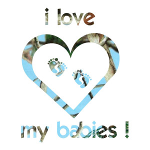 Blue Camo Love My Babies Truck Stickers Car Decals