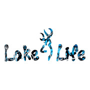 Blue Camo Lake LIfe Die Cut Stickers