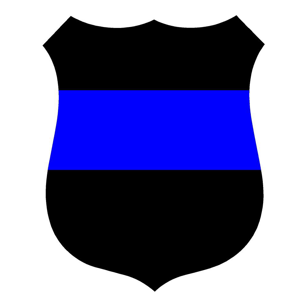 Blue Line Police Badge Public Safety Waterproof Stickers