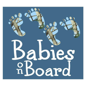 Babies on Board Blue Camo Truck Stickers