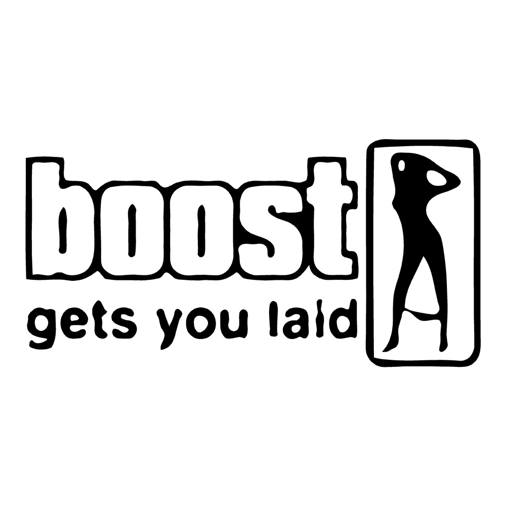 Boost Laid Funny Stickers Car Decals