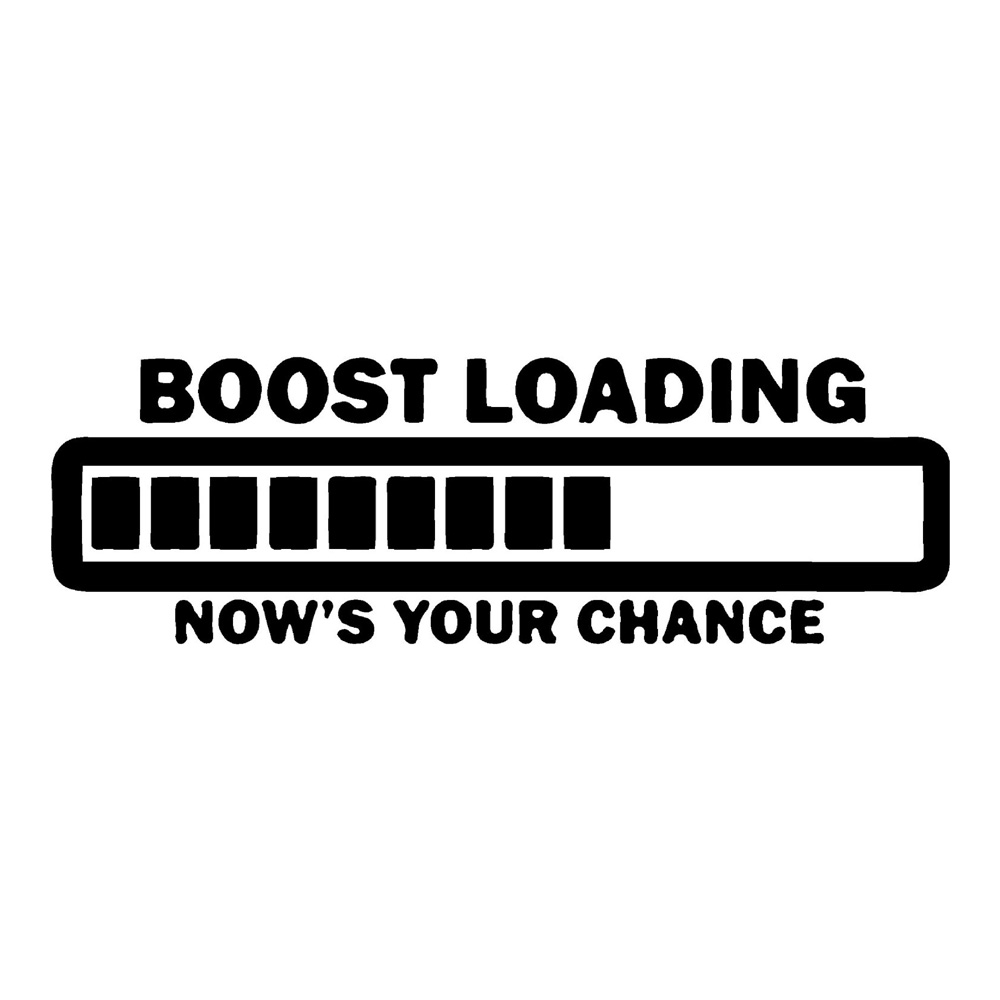 Boost Loading Car Racing Stickers Auto Decals
