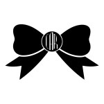 Bow Initials Monogram Stickers