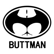 Buttman Sticker Funny Stickers Oval Stickers Car Decals