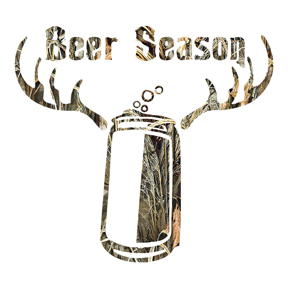 Camo Beer Season Funny Stickers