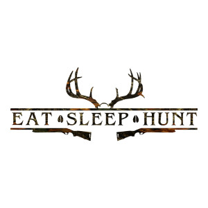 Camo Eat Sleep Hunt Truck stickers