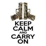 Camo Keep Calm and Carry On Waterproof Stickers