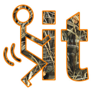 Orange Camo F*** It Funny Stickers
