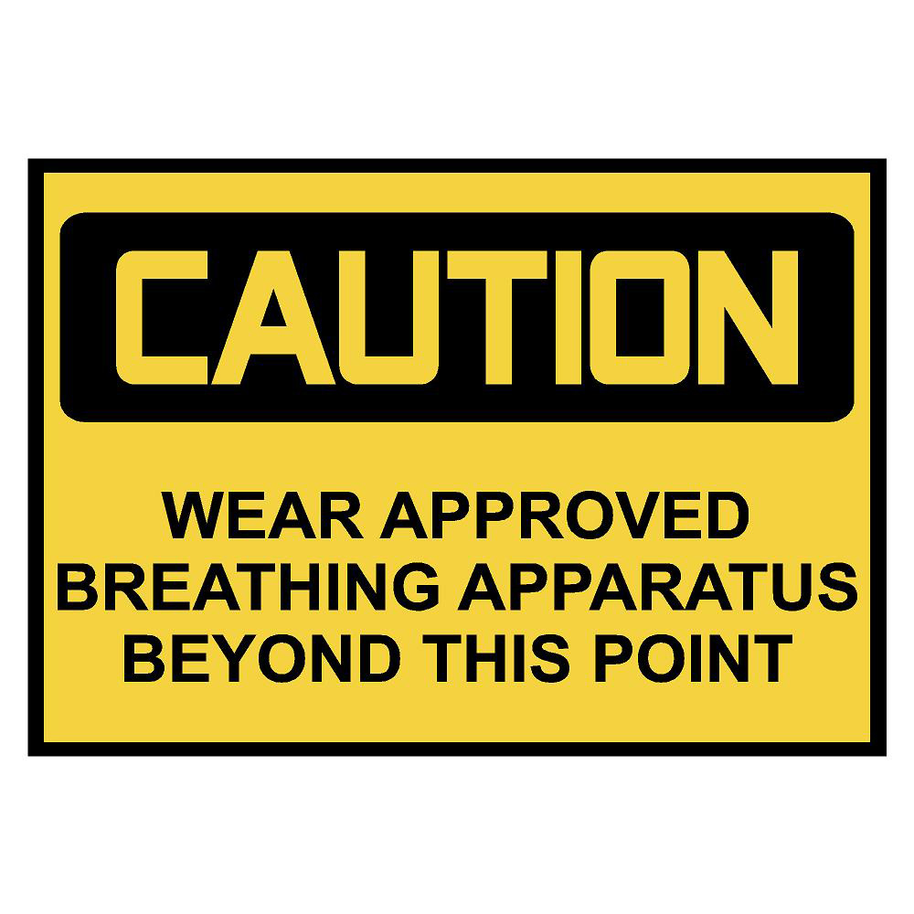 Caution: Breathing Apparatus Safety Decal