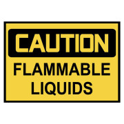 Caution: Flammable Liquids Warning Stickers