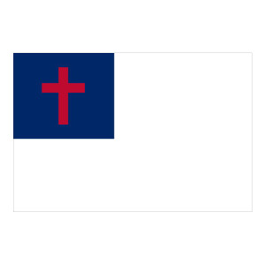 Christian Flag Waterproof Stickers