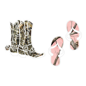Boots and Saddles Camo Outdoors Stickers