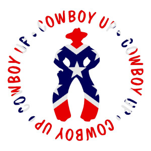 Cowboy Up Waterproof Stickers