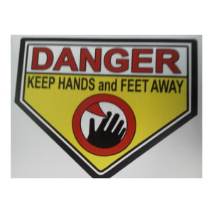 Danger Keep Hands And Feet Clear Caution Sticker