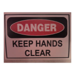 Danger Keep Hands Clear Caution Sticker