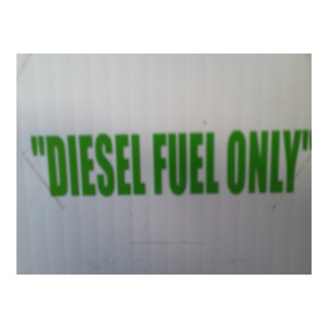 Diesel Fuel Green Stickers Diesel Truck Decals Car Decal
