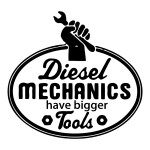 Diesel Mechanics Funny Stickers Car Decals Toolbox