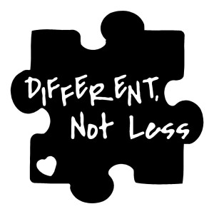 Different Not Less Autism Stickers