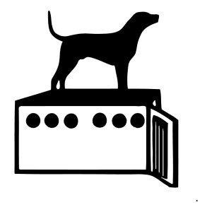 Dog in a Box Sticker Animal Funny Stickers Wall Decals
