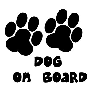 Dog on Board Sticker Animal Stickers Car Decals Waterproof